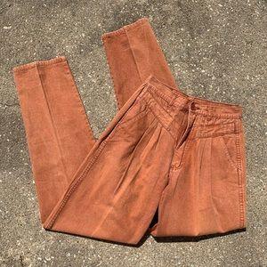 Vintage Rockies high rise wedgie fit orange jeanS